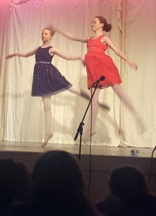 Laura Daly and Siobhán Brosnan performing a ballet routine during the show.