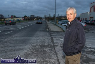Tony Walsh pictured on the road outside his premises which bear no indication of the busy Walsh Colour Print exit / entrance where Wednesday morning's accident occurred. ©Photograph: John Reidy