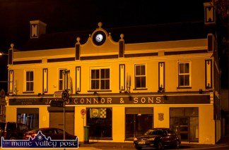 The Market House, one of Castleisland's and Kerry's most famous landmarks pictured with its new, back-lit clock. Could it serve as a courthouse again? ©Photograph: john Reidy 30/09/2015
