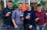 For that day that's in it: Timothy Mitchell (left) pictured with: Jack Corkery, Killian Hickey and Colin McCarthy outside Kearney's Bar during Thursday's St. Patrick's Day Parade in Castleisland. ©Photograph: John Reidy