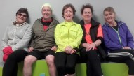 Preparing for Sunday's Kingdom Come Lee Strand / An Ríocht AC 10 Miler in Castleisland were: Joan and George Glover, Sheila Curtin, Marie Hickey and Eileen Brennan. Photograph: Cathleen Reidy 9-4-2016