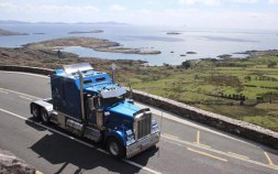 Mike and Aaron zipping along the 'Ring' road to their destination in Caherdaniel. Photograph courtesy of Build4Life.