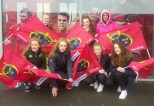 Pres girls during their big day out at Thomond Park on Saturday. Front front left: Sarah Mahony, Grainne Walsh, Amy Walsh and Sarah O'Mahony. Back from back left: Lisa Flynn, Alanna Glennon and Ellen Dennehy.