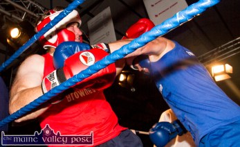 Great 'Brawlers' and friends, Paudie O'Connell and Eamon Egan getting tough during their bout.