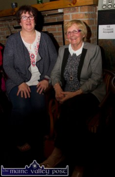 Killarney Road neighbours of the late Mike Kenny, Marie Sheehy and Mary Brennan pictured on the opening night of the Mike Kenny Arts and Music Weekend at Browne's Bar on Friday night. ©Photograph: John Reidy
