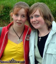 Abbeyfeale girls in Knocknagoshel for Sunday's annual Pattern Day celebrations were: Norma Doran (left) and Angela Browne. ©Photograph: John Reidy 15-8-2004
