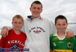 Having a good time at Sunday's Pattern Day Festival Sports meeting at Willie Walsh Memorial Park were, from left: Danial Cotter, Diarmuid Brosnan and Seamus Mangan, from Knocknagoshel. ©Photograph: John Reidy 15-8-2004