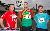 Thomas Crowley, Farranfore (left) with: John Kelly, Carlow and Brian Lucid, Ballyheigue at the start of the first of the series of three September 5K Road Races / Fun Runs in Castleisland on Wednesday evening. ©Photograph: John Reidy