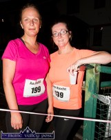 Brosna runners, Mary Barry (left) and Mary J. Murphy pictured after the second leg of the three September Wednesday evening 5K Road Races / Fun Runs at An Ríocht AC Castleisland. ©Photograph: John Reidy