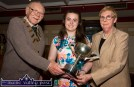 Games President, Brian Lewis and secretary, Margaret Culloty presenting the Kerry Community Games Youth Award to Cassandra Myers of the Keel/Kiltalagh club at the recent awards ceremony at the River Island Hotel. ©Photograph: John Reidy