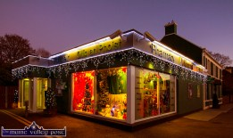 Ahern's Post Office and Pharmacy suitably prepared for Sunday, December 4th festivities in the village. ©Photograph: John Reidy 23-11-2016