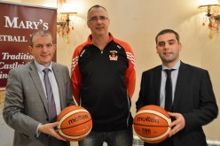 At the launch of the 47th St. Mary's Basketball Club Basketball Blitz are: club chairman, Maurice Casey (centre) with sponsors, Kevin McCarthy and Seamus O'Connor of Garvey's SuperValu. Photograph: Liz Galwey