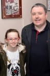 Enjoying the St. Mary's Basketball Club blitz launch are: Zara O'Connor with dad, Tommy Dom O'Connor. Photograph: Liz Galwey