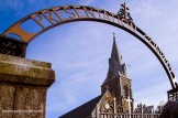 The Church of Saints Stephen and John in Castleisland through the arch to the Presentation Convent from Church Street. ©Photograph: John Reidy