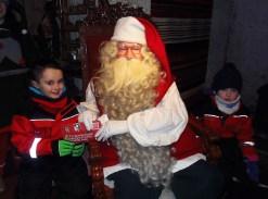 Seán Walsh and Sinéad Buckley met Santa during their trip to Lapland.