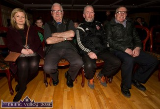 Ann O'Rourke is pictured with: John Mitchell, Seán Gallagher and Cllr. Bobby O'Connell at Thursday's Castleisland Community College / Castleisland AFC All Weather Pitch Information Evening at the River Island Hotel. ©Photograph: John Reidy