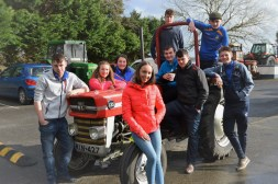 Castleisland Community College Students on the Great 30th Anniversary Tractor Run. Included are: front: Aisling O Connell, Reece Nelligan and James McDonnell. Back from left: Dylan O'Connor, Saoirse Murphy, Kevin Lenihan, DJ Fealey, Greg Curran. Photograph: Elaine Murphy