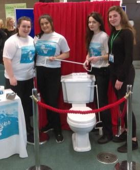 The Louver team helping with hygiene: From left: Siobhán Brosnan, Áine Sheehan, Eibhlís Brosnan and Roisin Deniel.