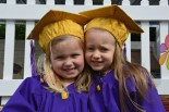 Cousins Ayla and Isabel Horgan at their graduation from Bright Beginnings. Photograph: Liz Galwey