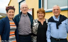 Brid Wrenn, Fr. Sean Horgan, Sheila Kearney and Canon Denis O'Mahony all smiles last Saturday at the unveiling of the Tom Wrenn Memorial Stand. CúlPix: Nora Fealey 2017©