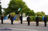The colour party members lower their flags in memory of the late Lillian Bonn-Hanafin who died on March 21st. of this year. ©Photograph: John Reidy
