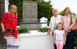 Relatives of the local volunteers, Richard Shanahan, Jack Prendiville placing wreaths at the monument to the men and their comrade, Jack Flynn at the July 10th 1921 commemoration at Rice's Height on Saturday evening. Included are: Catherine Kate Shanahan, (left) with Norrie Breen and Noreen and Mary Prendiville. ©Photograph: John Reidy