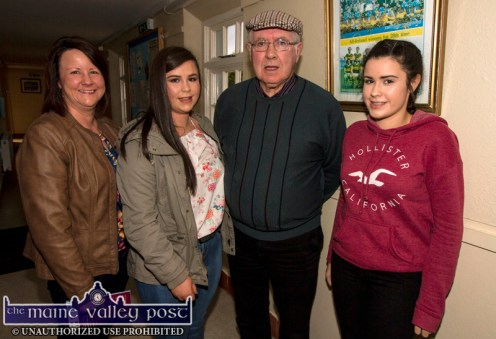 Katie O'Sullivan with her daughters: Michelle and Aoife with Christy Cronin before the RTÉ Céilí House recording at Tureencahill Community Centre on Saturday evening. ©Photograph: John Reidy