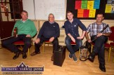 Warming up: Con Moynihan (left) pictured with: Jimmy Doyle, Bryan O'Leary and Joe O'Sullivan preparing for the RTÉ Céilí House recording at Tureencahill Community Centre on Saturday evening. ©Photograph: John Reidy