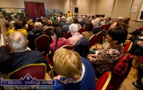 The scene in the 'recording room' during the RTÉ Céilí House session at Tureencahill Community Centre on Saturday evening. ©Photograph: John Reidy