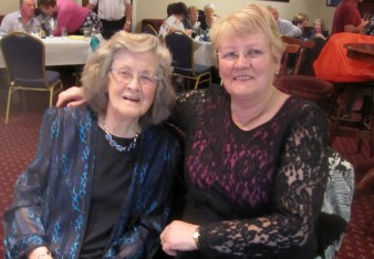 Bridie O'Shea and Kathleen Collins at the Abbeyfeale Community Alert Seniors Lunch at Fr. Casey's GAA Clubhouse.