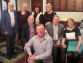 John O'Sullivan, Marian Harnett, Carmel Stack, Kathleen Collins, Neilus Collins, Hughie and Mary McAurthur and James Stack at the Abbeyfeale Community Alert Seniors Lunch at Fr. Casey's GAA Clubhouse.