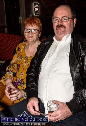 Marian and John Flanagan, Tralee pictured at the Sharon Shannon Concert at Ó Riada's Bar and Restaurant on Friday night. ©Photograph: John Reidy