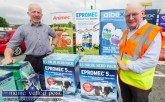 Company rep, Michael Mters (left) with Neil Daly at the 2017 Topline Browne's Home, Agri and Builders Providers Open Day in Castleisland. ©Photograph: John Reidy