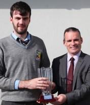 Principal, Denis O'Donovan pictured with Principal's Award winner, Dylan O'Donoghue.