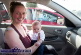 Nine-week-old Baby Mary Ward with mom, Grace was the youngest attendee at Munster's only Drive-In Bingo Session to start on Sunday afternoon at Castleisland Co-Op Mart. ©Photograph: John Reidy
