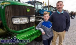 Karl Daly and his dad, Dan from Scartaglin pictured at the annual Paudie Fitzmaurice Memorial Charity Tractor Run in Castleisland. ©Photograph: John Reidy 9-9-2018