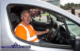 Volunteer, Charlie Farrelly drove the lead car ahead of the annual Paudie Fitzmaurice Memorial Charity Tractor Run in Castleisland. ©Photograph: John Reidy 9-9-2018