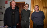 Cormac O'Mahony, Castleisland pictured with Peter Browne and Joe Creedon, Cúl Aodha at the Handed Down special tribute to Peter Browne in Scartaglin on Saturday night. ©Photograph: John Reidy