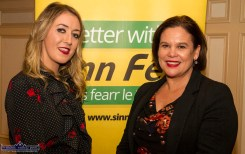Kate McSweeney, Castleisland Local Election Area Candidate and event organiser, pictured with Sinn Féin President, Mary Lou McDonald, TD at the Rural Revival Conference at the River Island Hotel in Castleisland on Saturday night. ©Photograph: John Reidy 24-11-2018