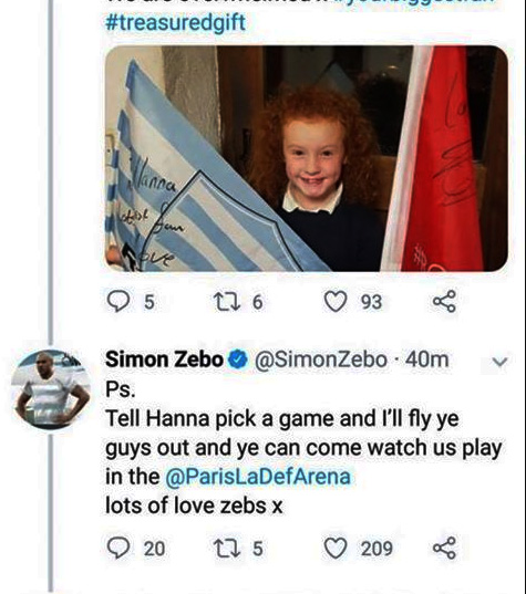 Hanna embedded in the Tweet which is causing all the excitement in her house at present.