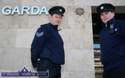 Sgt. John O'Mahony and Garda Declan Hallett pictured at the new station on Tralee Road, Castleisland on the day of the move from the temporary station on Church Street. ©Photograph: John Reidy 7-12-2011