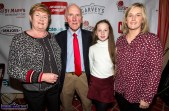 St. Mary's Basketball Club's Christmas Blitz founder, Donal 'Duke' O'Connor with his wife Ann, their daughter, Gráinne and grand-daughter, Caoimhe at Friday night's launch of the 50th blitz at the River Island Hotel Castleisland. ©Photograph: John Reidy