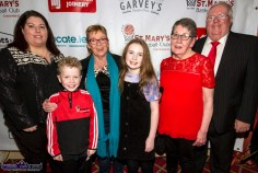 At Friday night's launch of St. Mary's Basketball Club 50th Blitz at the River Island Hotel Castleisland were: Bríd Kenny, Ryan , Patricia and Lily O'Connor with Síle and Tom Kenny. ©Photograph: John Reidy