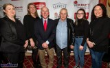 At Friday night's launch of St. Mary's Basketball Club 50th Blitz at the River Island Hotel Castleisland were, from left: Angela Ring-O'Donoghue, Munster Joinery; Reidín O'Loughlin, St. Mary's; Blitz founder, Donal 'Duke' O'Connor, Adrian and Laura Fleming and Teresa Curtin, St. Mary's. ©Photograph: John Reidy
