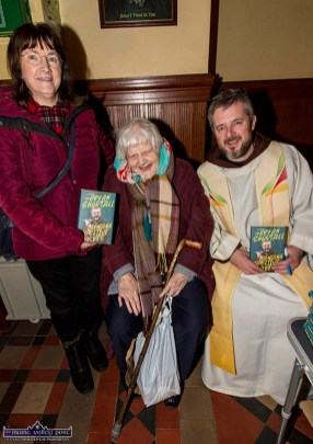Betty Gaire, Duagh (left) pictured with Pam Prendiville, Castleisland and Fr. Bryan Shortall at the first Padre Pio, Tuesday night novena at the Church of Saints Stephen and John. ©Photograph: John Reidy