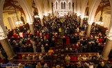 Standing room only: The Church of Saints Stephen and John was filled to capacity for the first Padre Pio, Tuesday night novena at the Church of Saints Stephen and John. ©Photograph: John Reidy