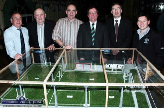 The next phase: At the launch of the new phase of development at Desmonds GAA Club at the River Island Hotel in Castleisland in January 2009, were, from left: Pat Hartnett, Jimmy Greaney, Vice Chairman; Seán McCarthy, PRO and Registrar; Colm Kirwan, Secretary; Michael John Kearney, Chairman and Francie Brosnan, Bórd Na nÓg. ©Photograph: John Reidy 30-1-2009