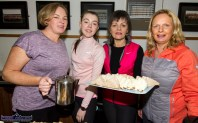 Members of the highly praised catering crew at the Brosna GAA Club after the Kerrie Browne 5K memorial run / walk in Brosna on Sunday morning. Included are from left: Olive Cunningham-O'Shea, Kileedy, Co. Limerick with locals: Lenora and Margaret Kelly and Mary Theresa Barry. ©Photograph: John Reidy