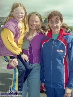 An Ríocht AC member, Marie McEllistrim with her daughter Adrienne and Kenmare athlete, Maureen Harrington at the official opening of the Castleisland club facilities on June 11- 2000. ©Photograph: John Reidy