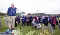 An Riocht AC Chairman, Joe Walsh (left) speaking at the official opening of the club facilities on June 11- 2000. ©Photograph: John Reidy